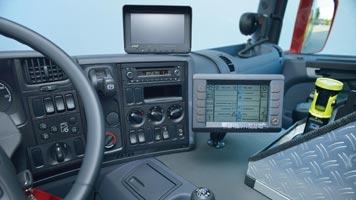 Lentner-Fahrerraum mit Display