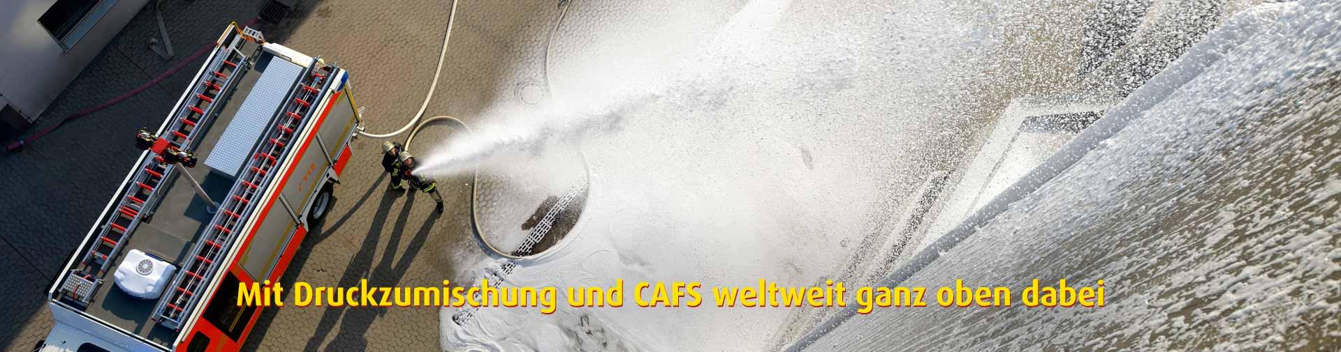Höchstleistung bei Druckzumischung und CAFS