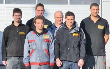 Die Service-Crew von Lentner