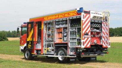 Die Feuerwehr Bad Wildbad bei Calmbach setzt auf Eigensicherung durch Heckvollbeklebung.