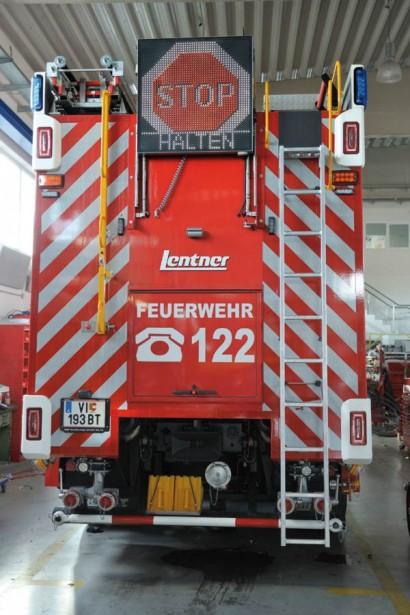 Heck des RTLF-A der Feuerwehr Villach