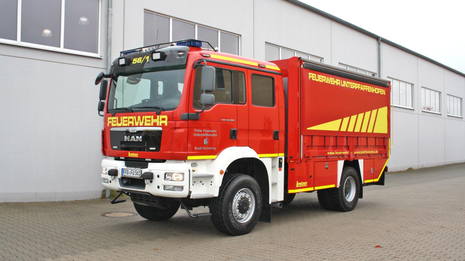 Versorgungs-Lkw-Feuerwehr-Germering